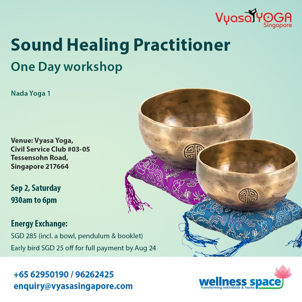 Naad Yoga 1 Sound Healing Practitioner Certification Singapore