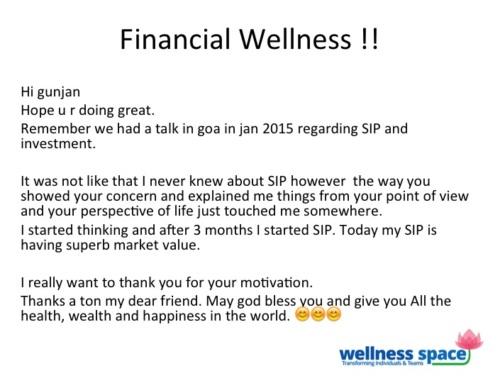 Financial Wellness – Awaken the energy (Shakti) within !