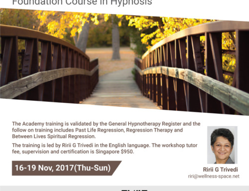 Foundation Course in Hypnosis (Past Life Regression Academy) Singapore Nov '17
