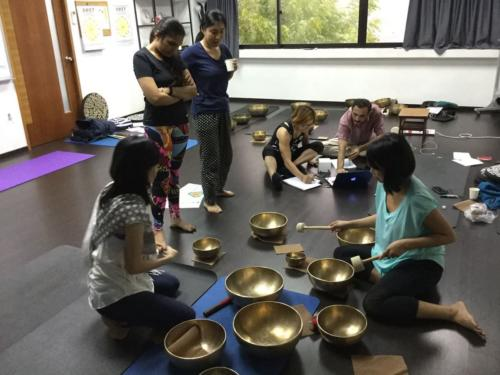 Singapore Naad Yoga Master Practitioner Training in progress