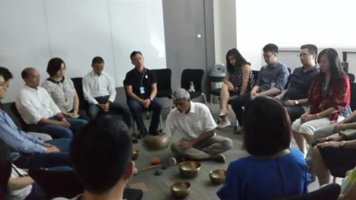 Sound Healing workshop at PG Singapore