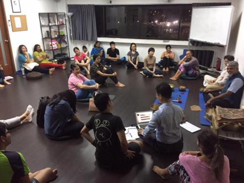 Workshop on Sound Healing held at Singapore, 2016