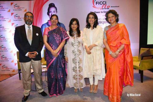 FICCI FLO event on Cancer with Manisha Koirala and Oncologist from Sterling Hospitals