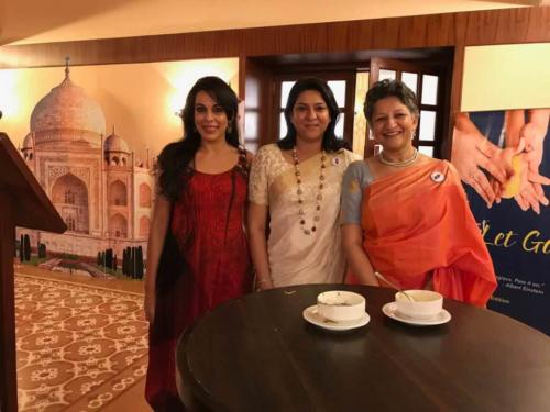 With Pooja Bedi and Priya Dutt Roncom at World Congress for Regression Therapy, Goa 2017