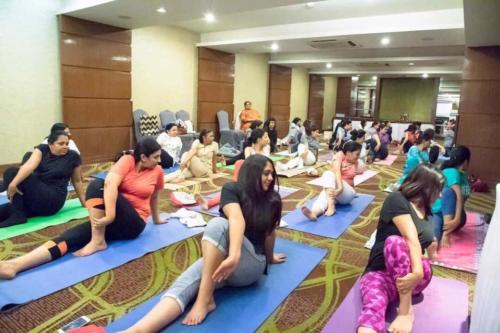 Yoga and Mind Based Wellness Session at FICCI FLO