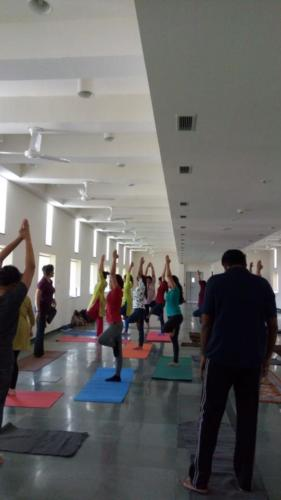 Yoga session for Masters students of IIPH, Gandhinagar