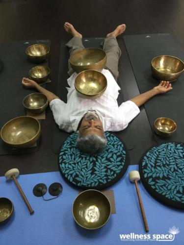 Sound bath healing session